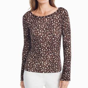 White House | Black Market • Leopard Sweater